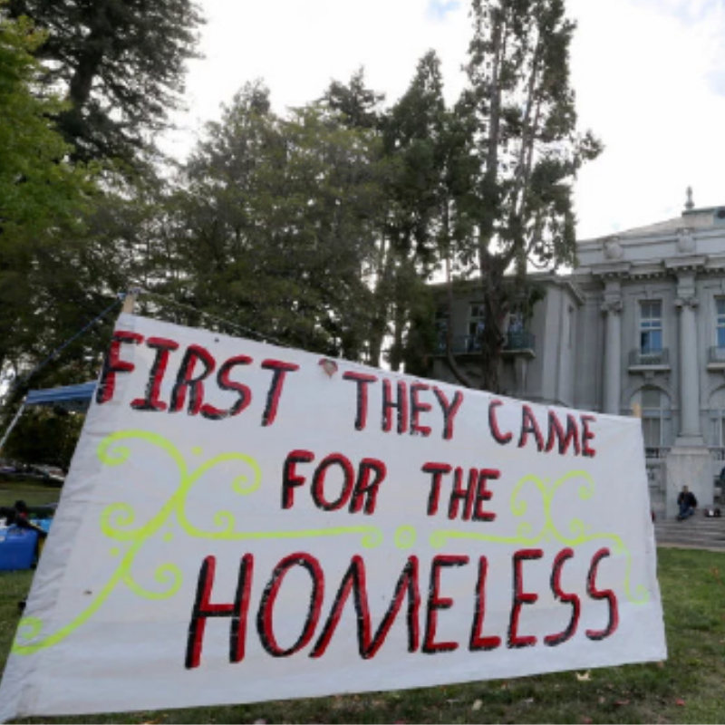 First they Came for the Homeless
