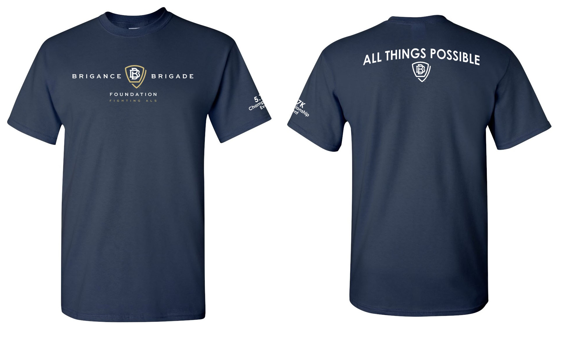 "1.57 Mile participants receive this ""All Things Possible"" t-shirt to commemorate the day!"