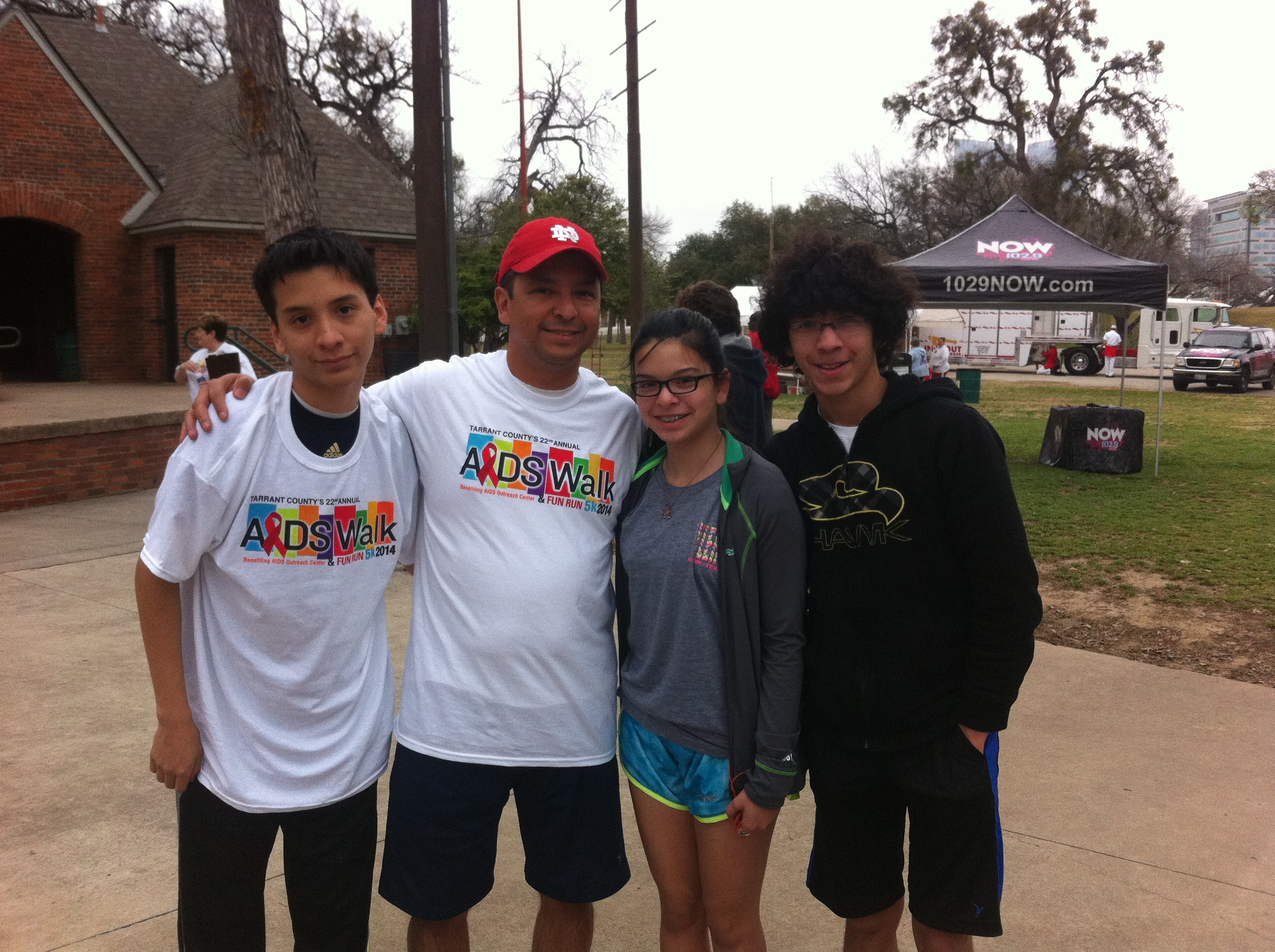 With my kids at the 2014 Walk event (formerly known as AIDS Walk)
