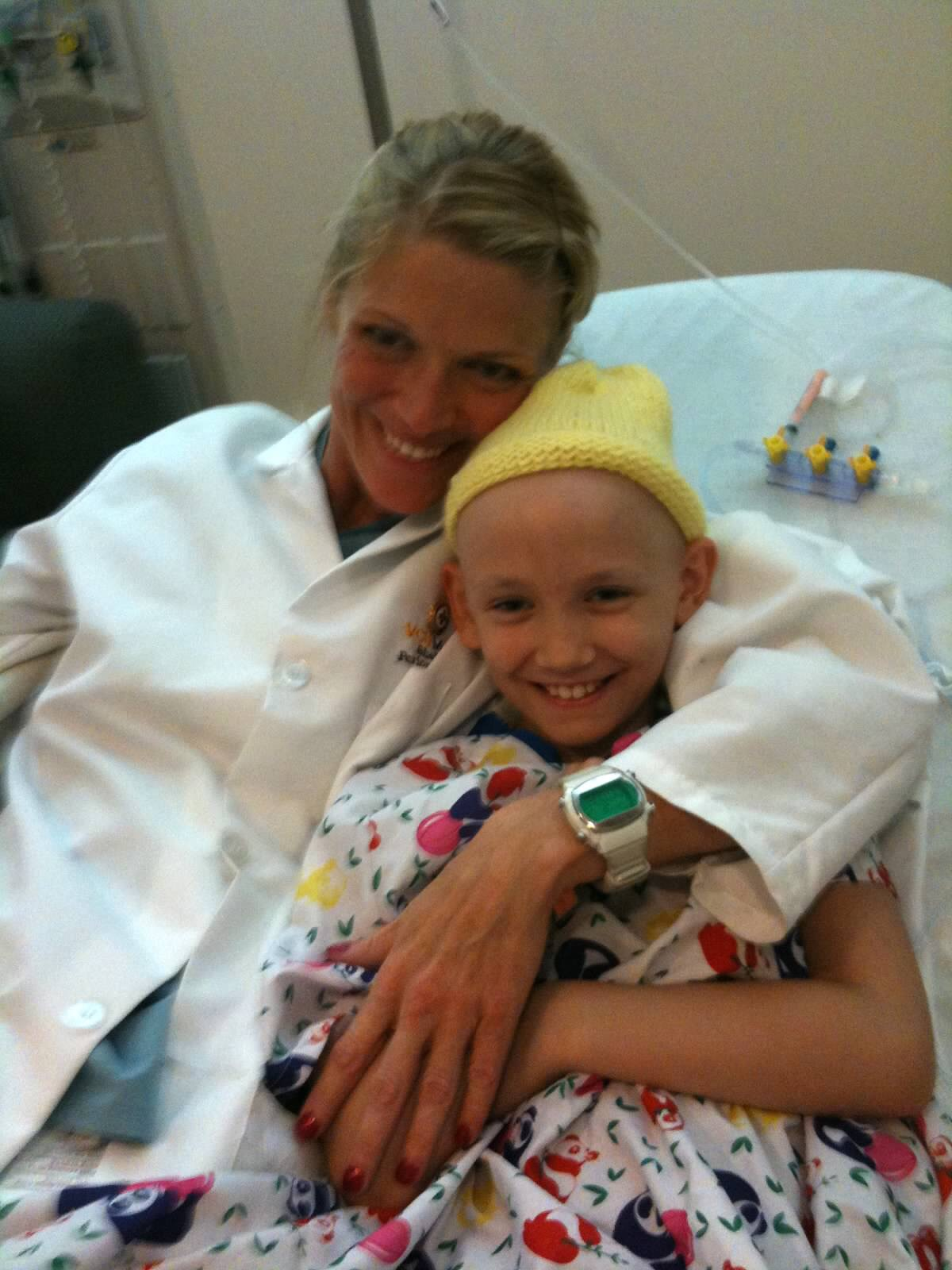 Abbie with Nurse Shelly