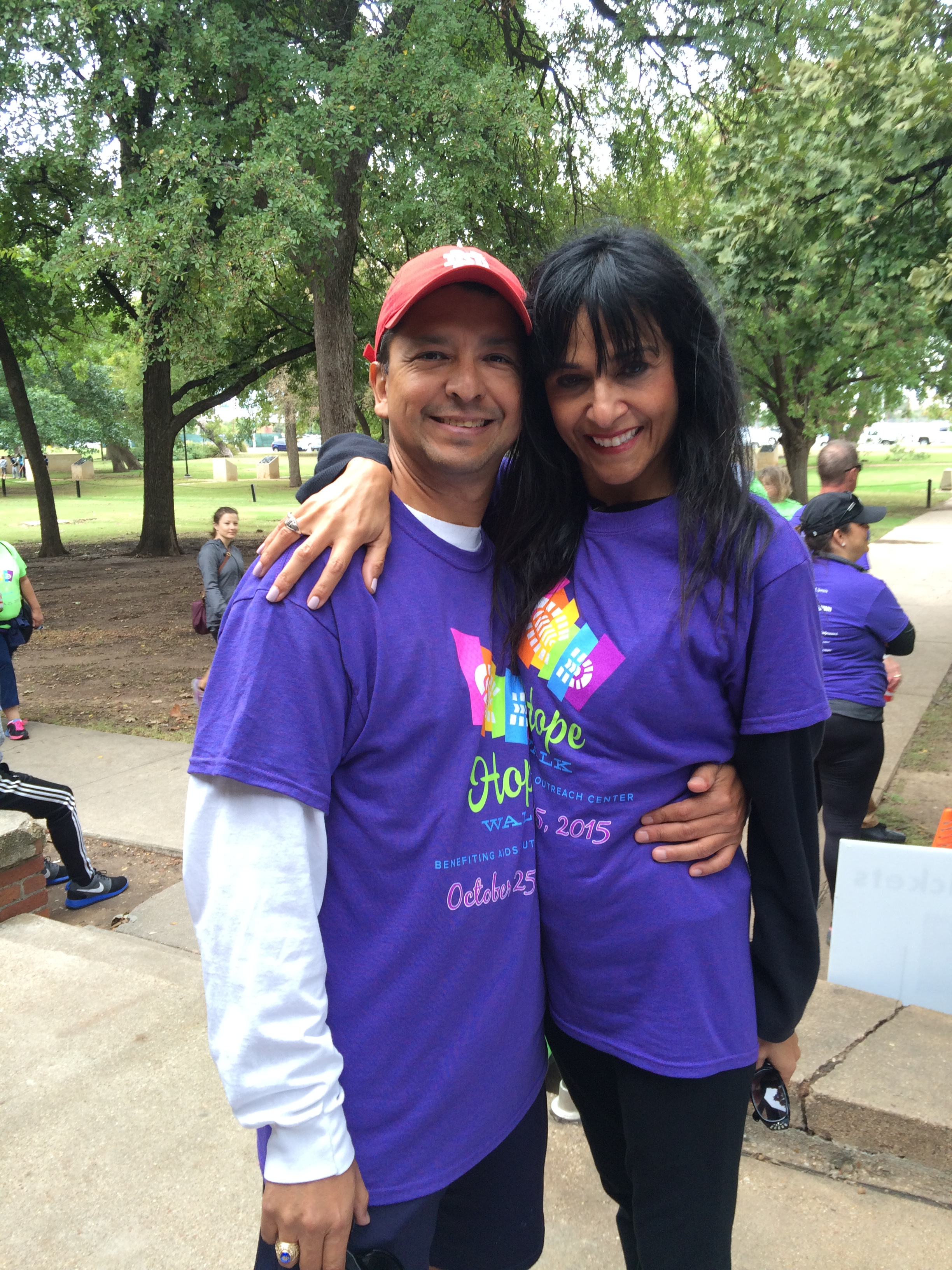 With my Darling Di at the 2015 Hope Walk (October)