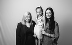 Anna Jones and her daughter with Legal Aid attorney Jamie Sparano