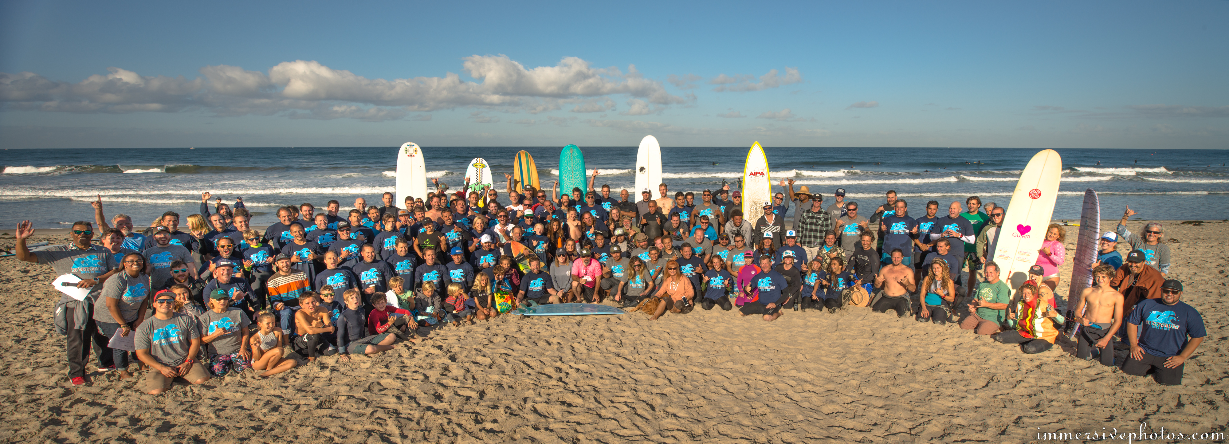 8th Annual 100 Wave Challenge Group Photo