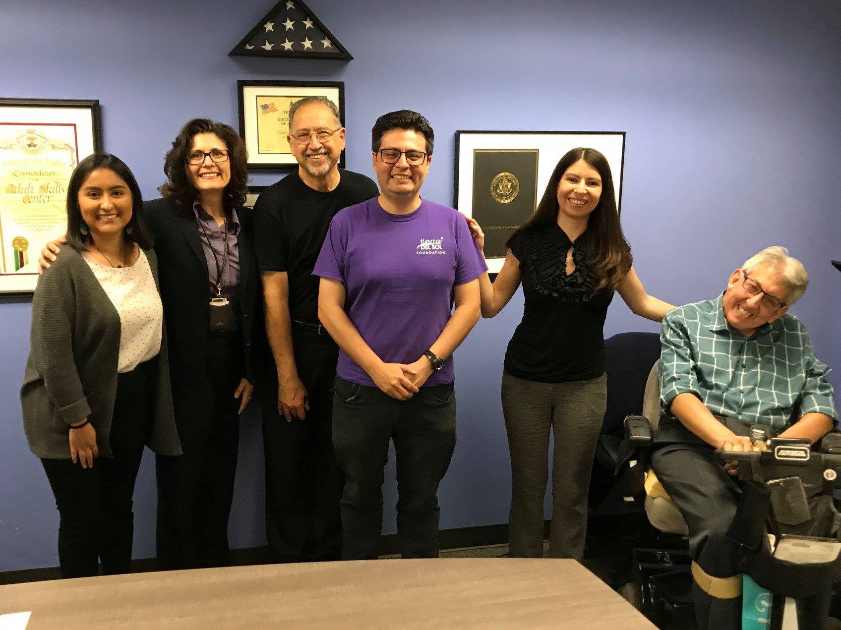 A Tour of TASC for Assemblymember Jesse Gabriel's rep, Mayra Valadez along with North LA County Regional Center Executive Director, Ruth Jenka, TASC Board President, Nick Leone, Rep from Tierra Del Sol, (me!) and TASC Executive Director, Ken Lane