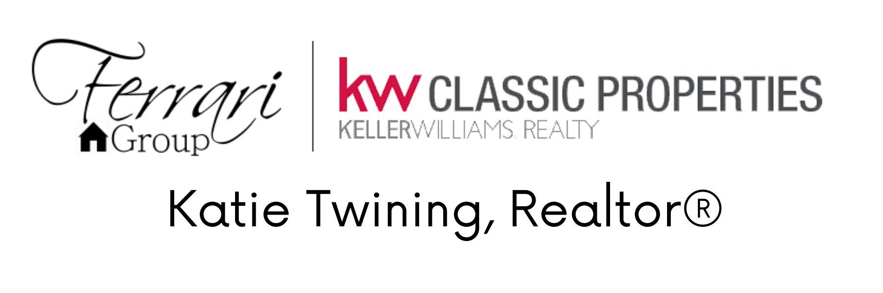 Katie Twining, Realtor, Ferrari Home Group, Keller Williams Classic Properties Realty
