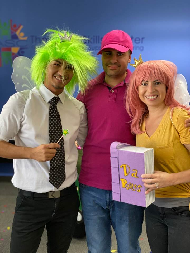 Winners of TASC's Staff Halloween Costume Contest! Timmy and His Fairly Oddparents!