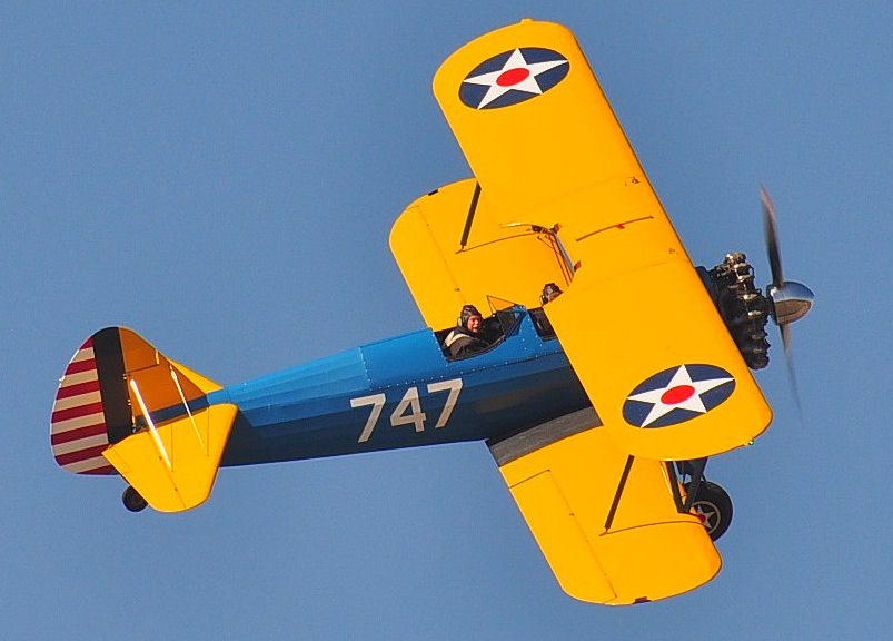 30 Minute Sightseeing Flight in a Vintage 1941 PT-17 Stearman - Donated by Don Sloan, Colonel, USAF Reserve (ret.)
