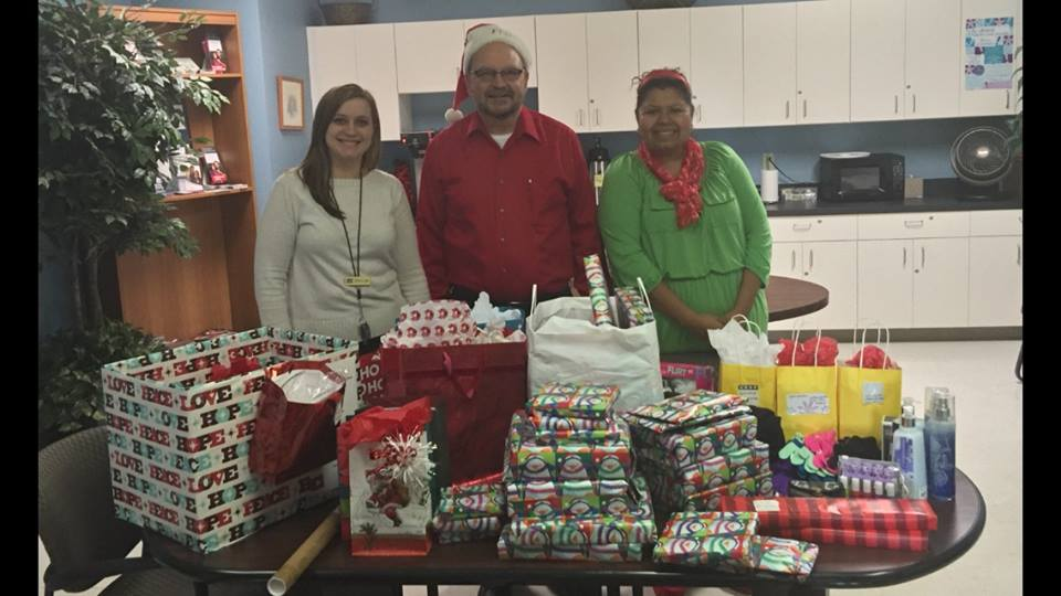 Embrace Donates Gifts to teen children of  AOC Clients