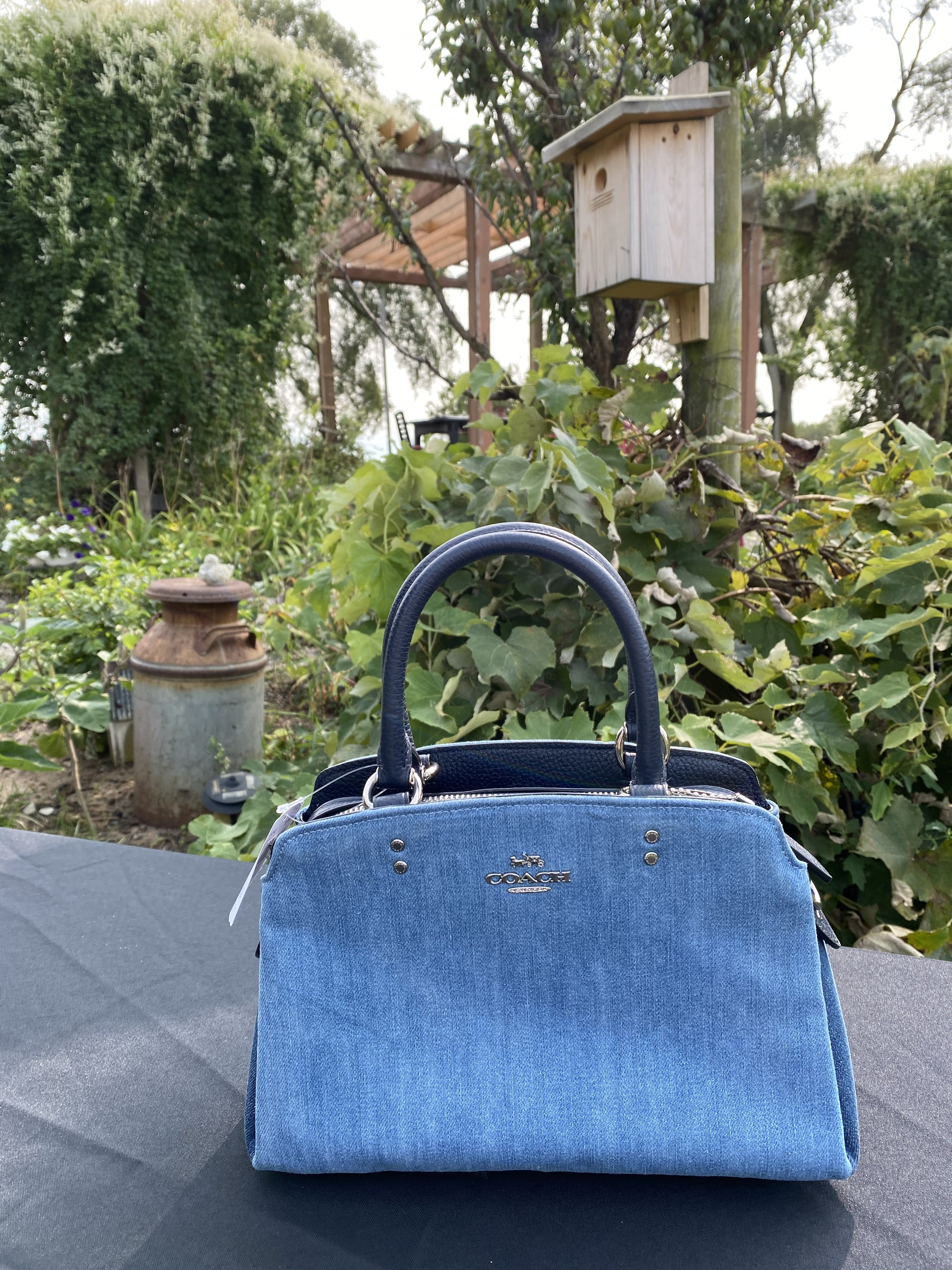 #2 Coach Denim Satchel