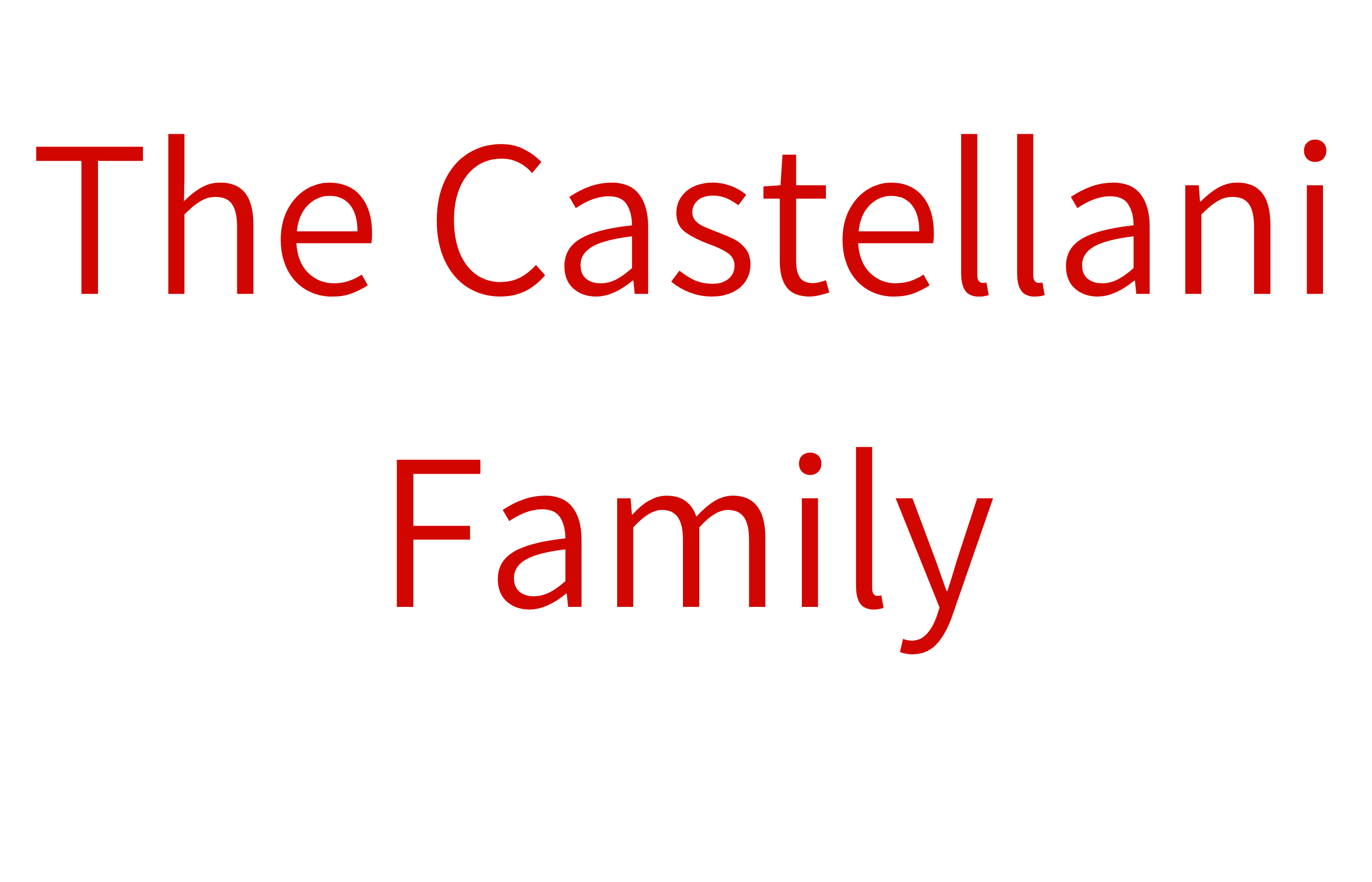 The Castellani Family