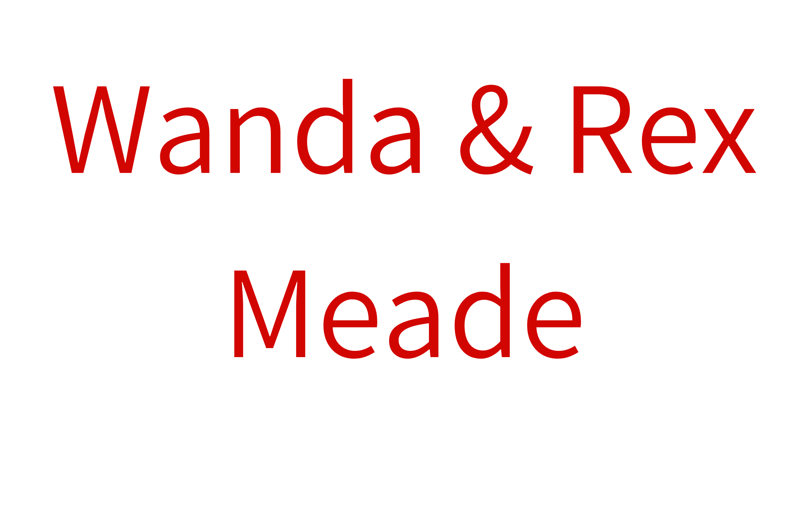 Wanda and Rex Meade