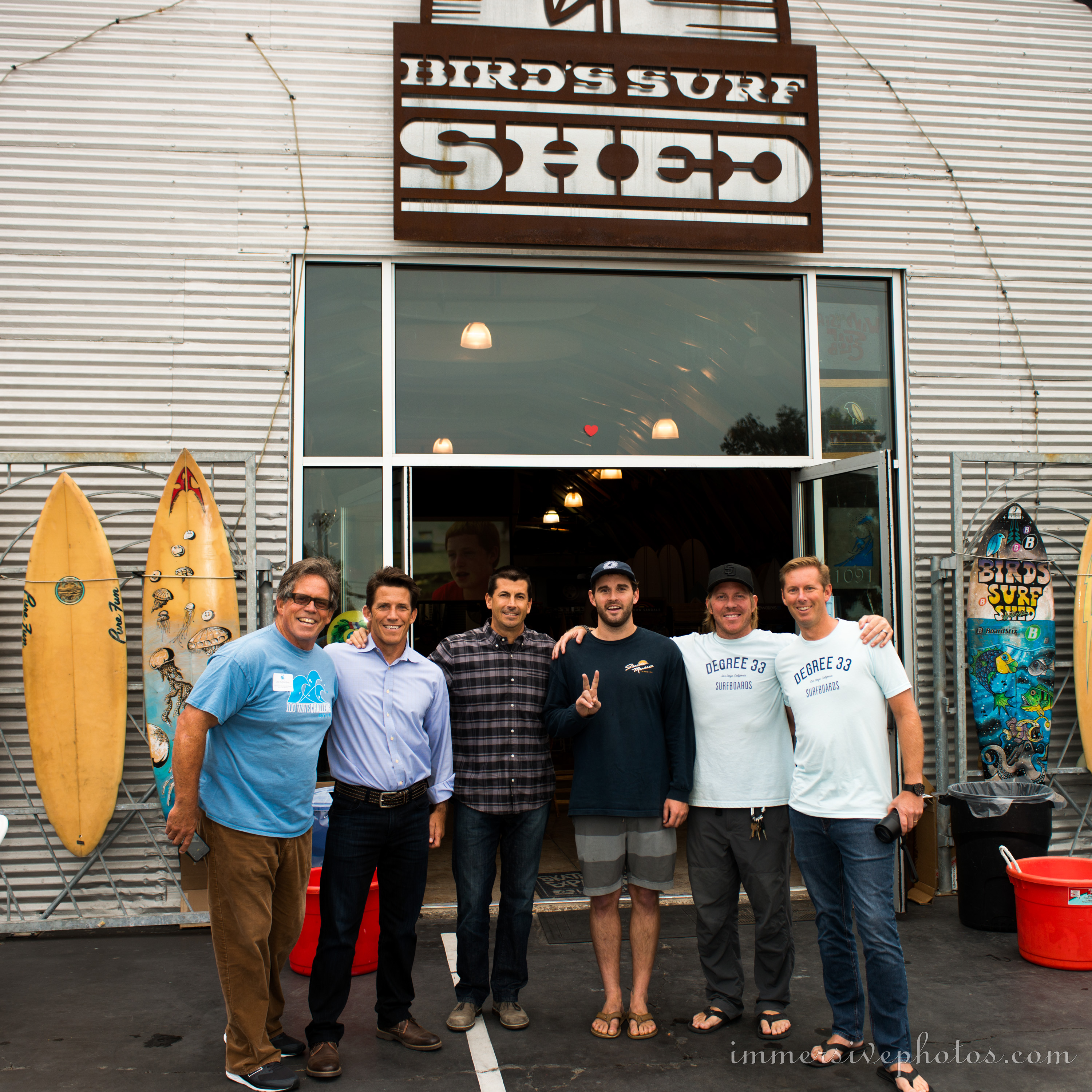 The Degree 33 Team at Birds Surf Shed