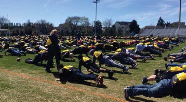 One minute of push-ups...worth every second to show our support of kids with cancer and their families!