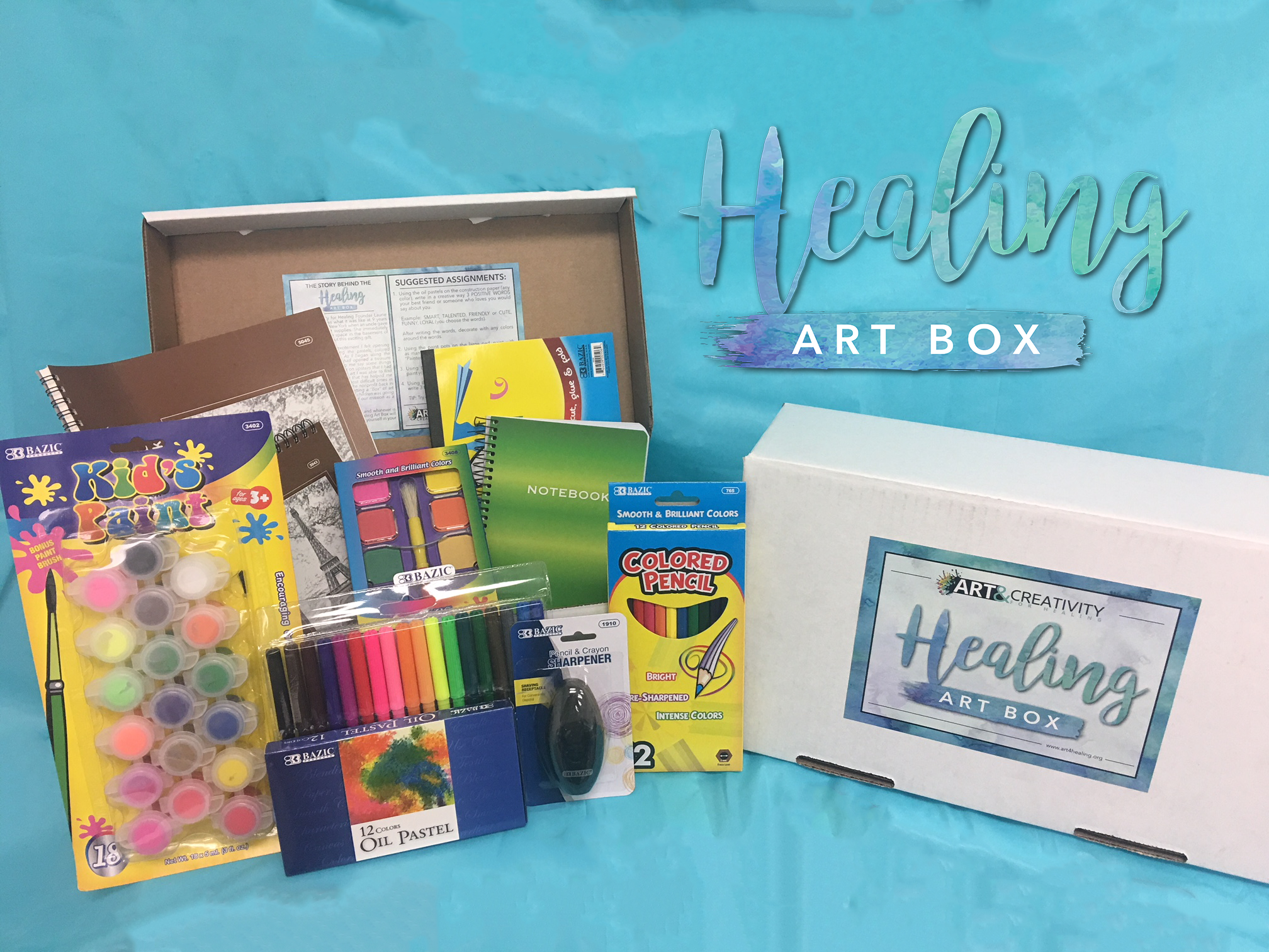 Healing Art Box Contents: