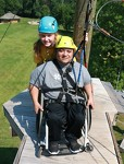 Our wheelchair accessible high ropes course at Camp Courage