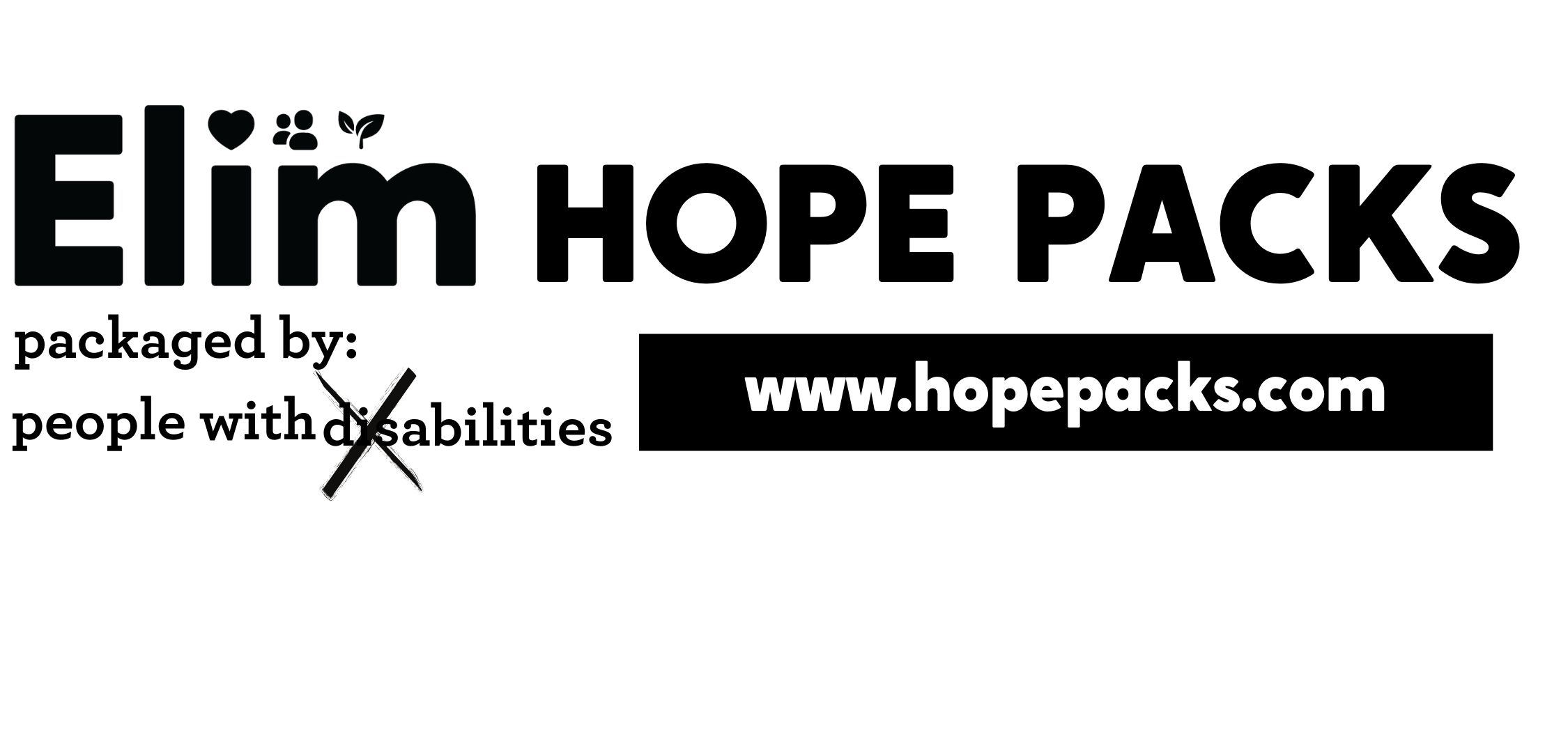 Elim HOPE Packs-Sauk Village Schools Straussburg & Wagoner Elementary Schools  District 168