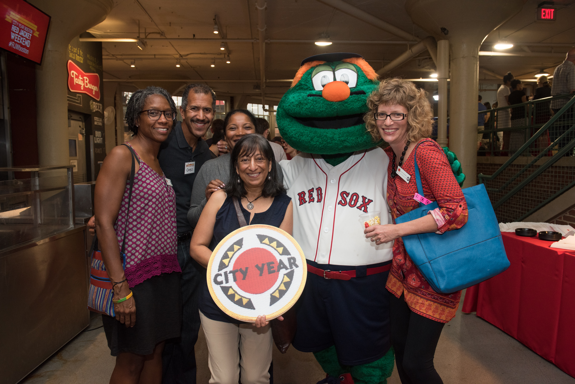 Seven Generations Board members at CYB's Back to School Bash at Fenway Park