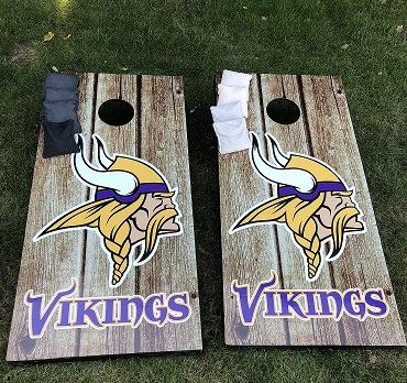 Vikings Corn Hole Bean Bag Game Boards