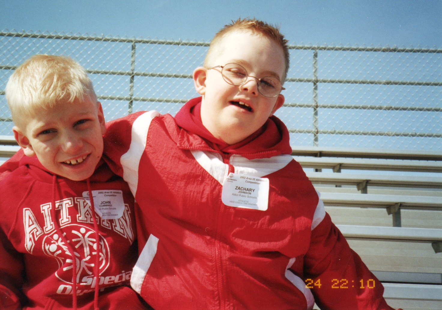 Johnny and Zach participating in Special Olympics