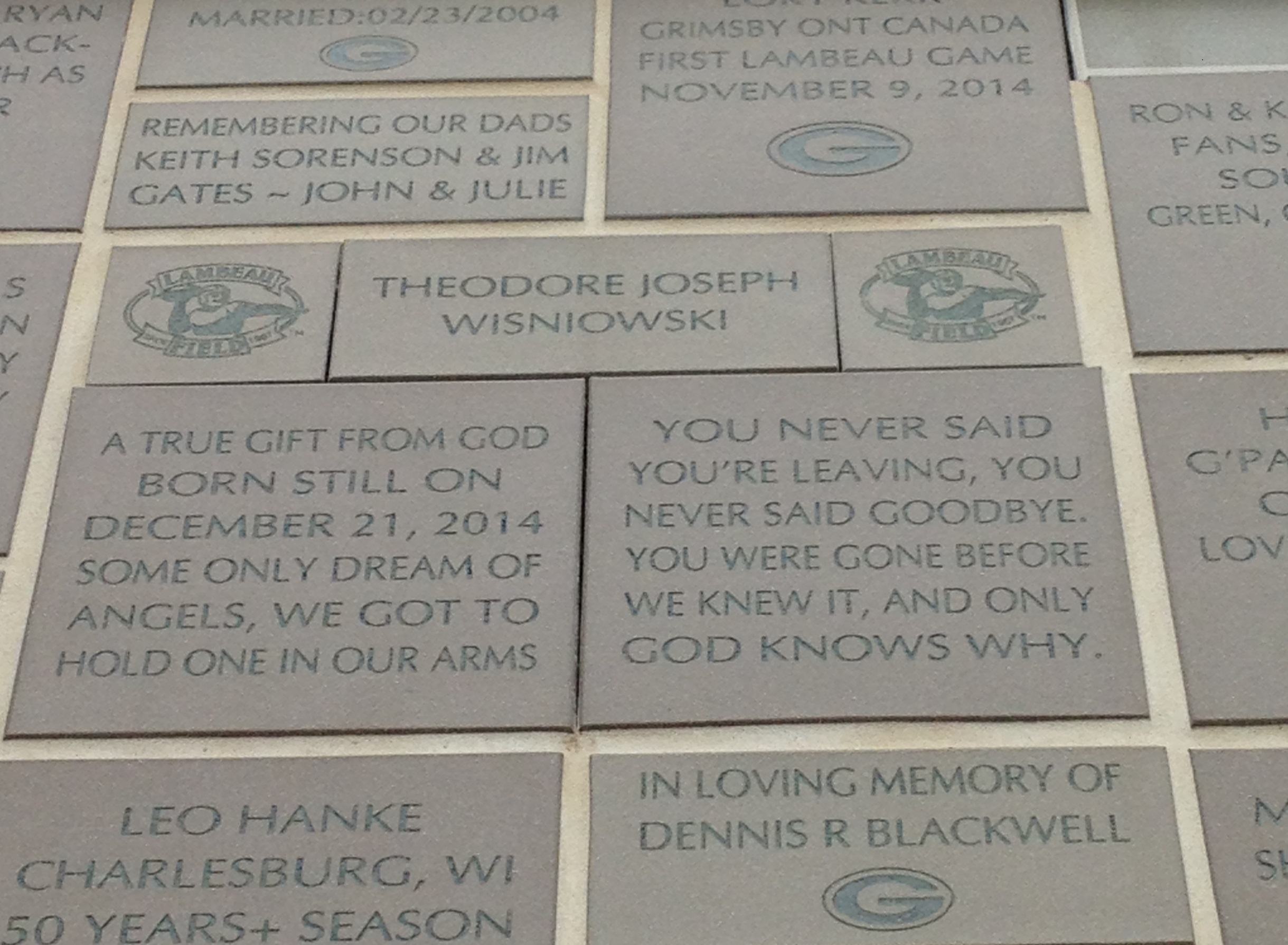 Memorial at Lambeau Field
