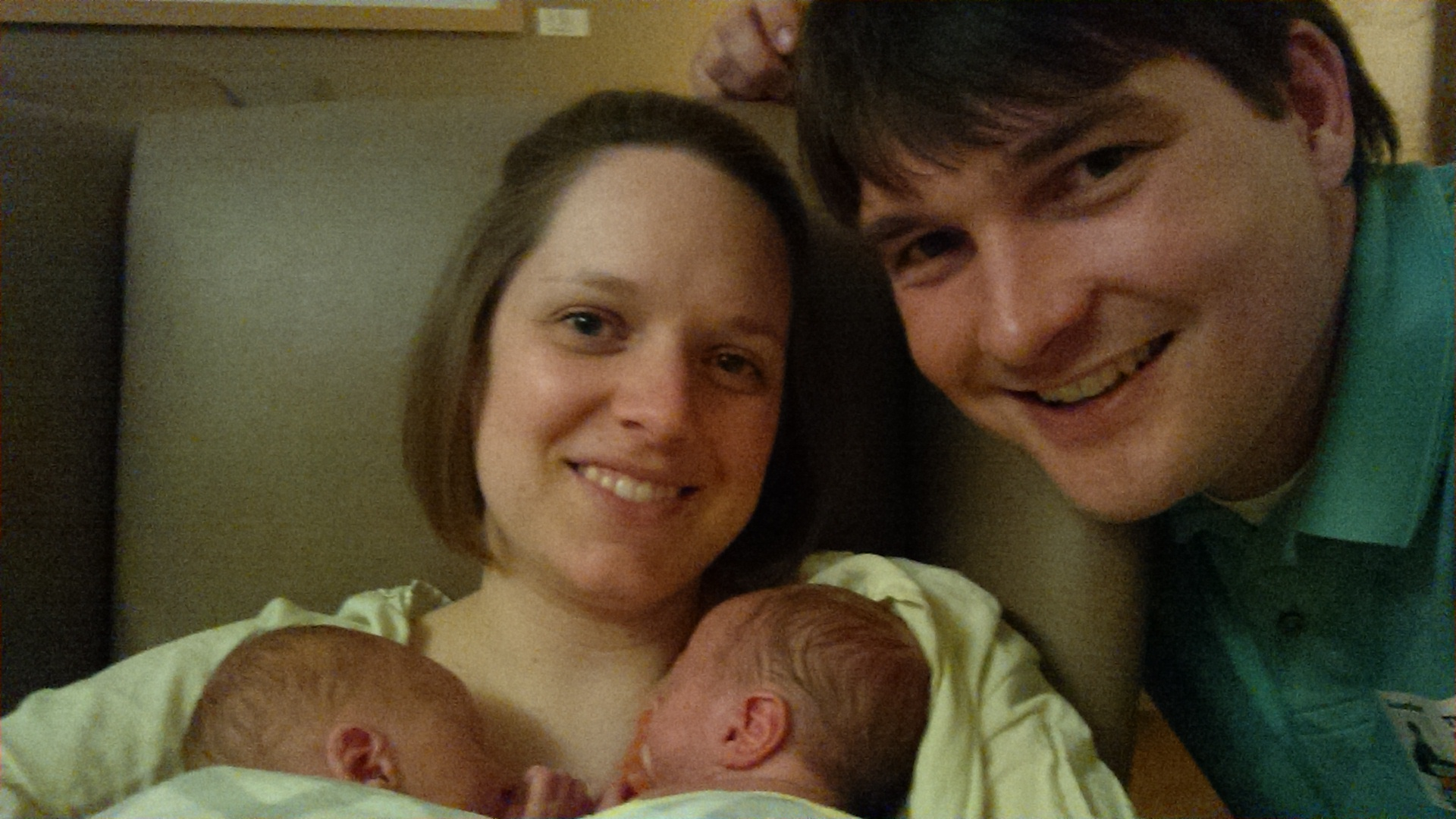 Family photo in the NICU