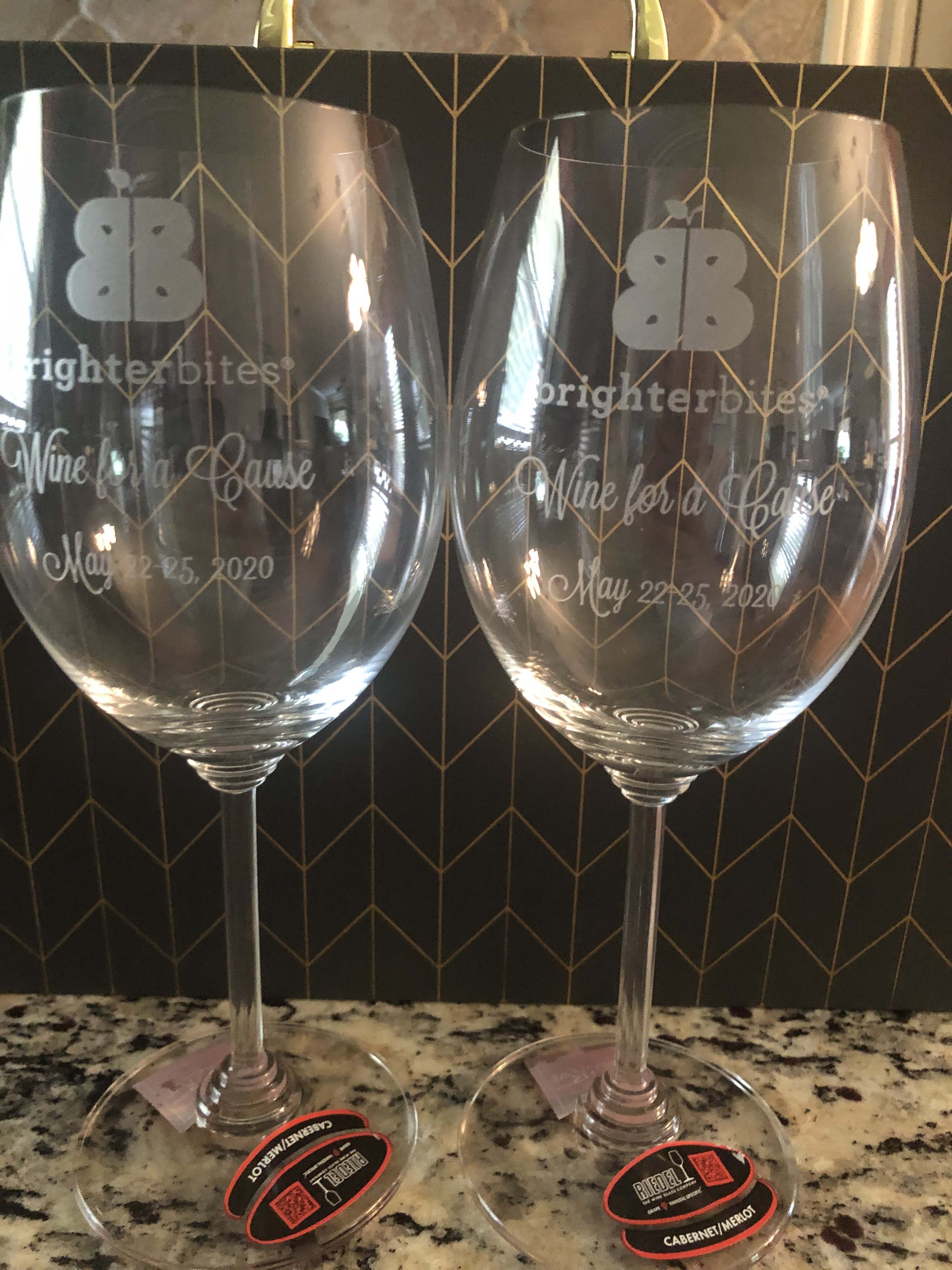 Wine for a Cause Riedel Crystal Wine Glasses