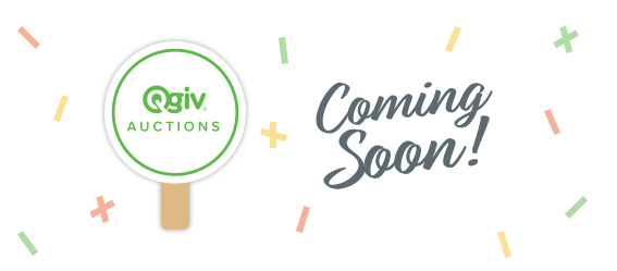 Sign up and be the first to know about Qgiv Auctions!