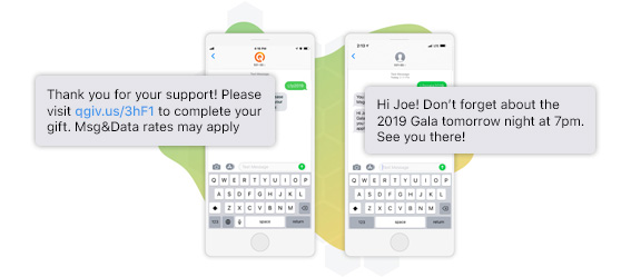 Raise more and communicate with your donors using text messages!