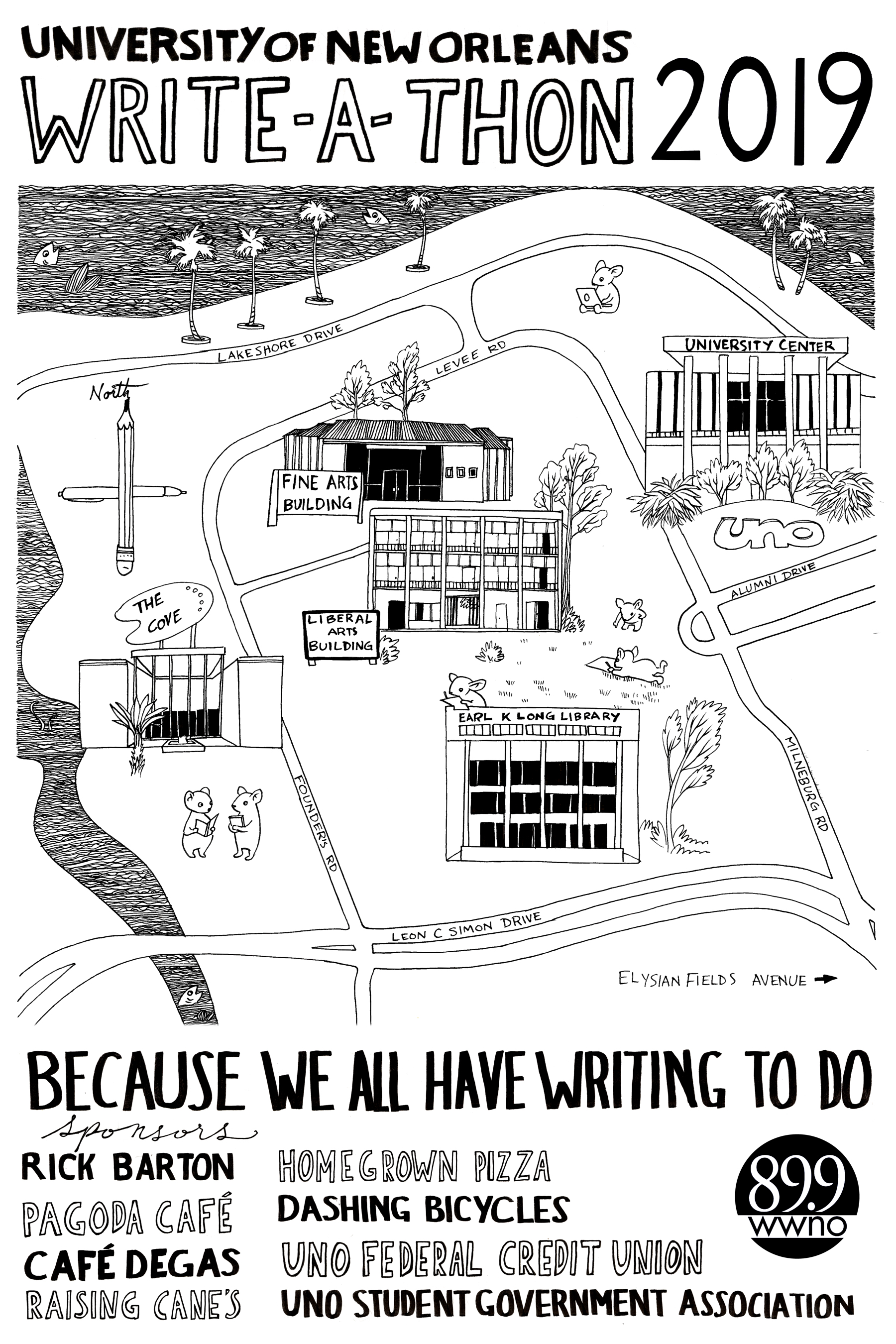 University of New Orleans Write-A-Thon 2019