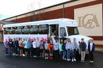 LCA 5th Graders and Our New Bus