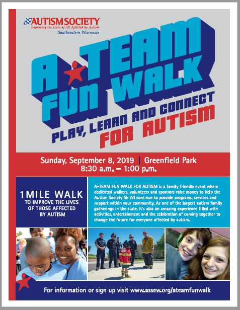 A-Team Fun Walk For Autism Poster