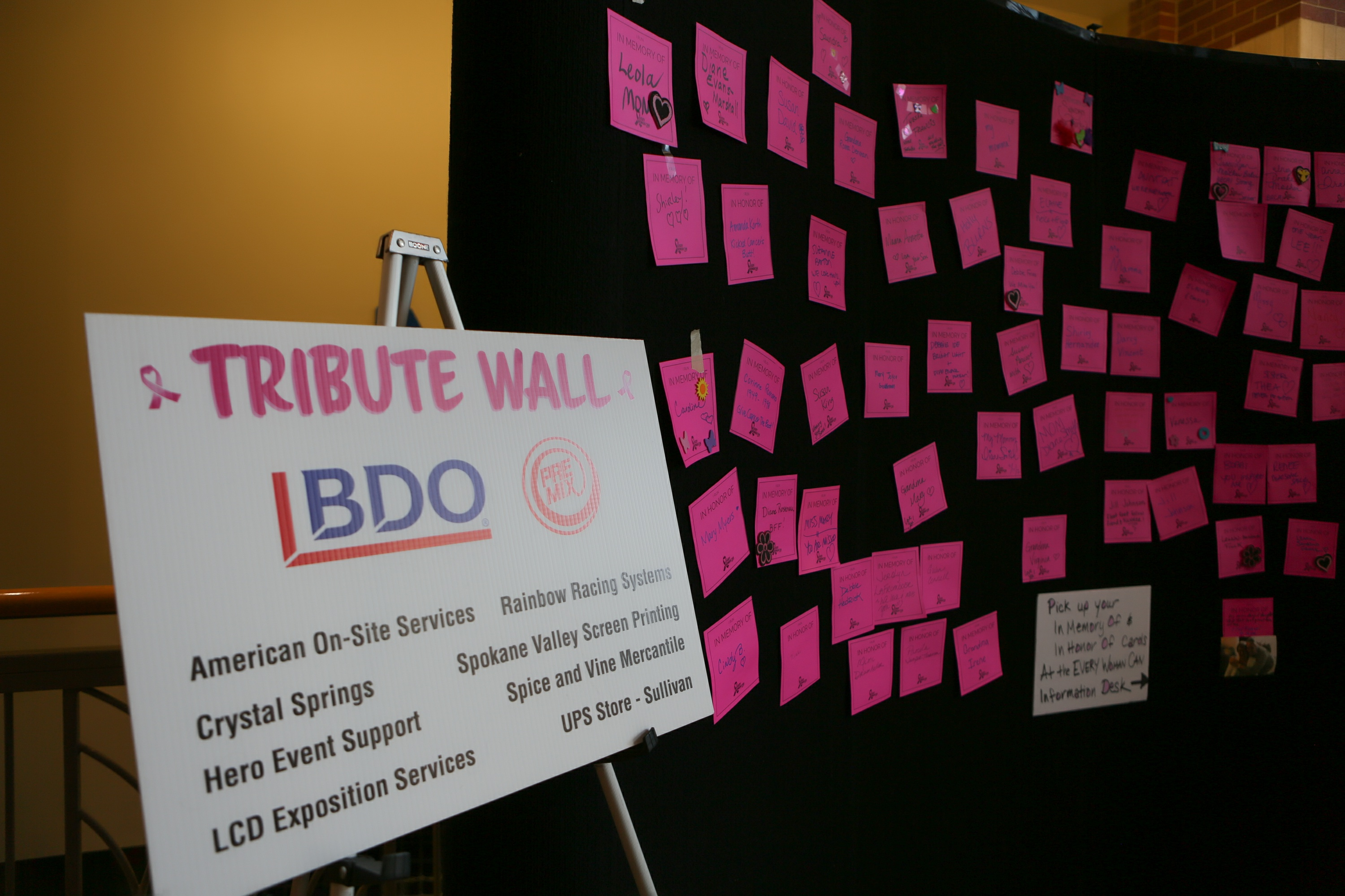 BDO Tribute Wall from Skyline INW