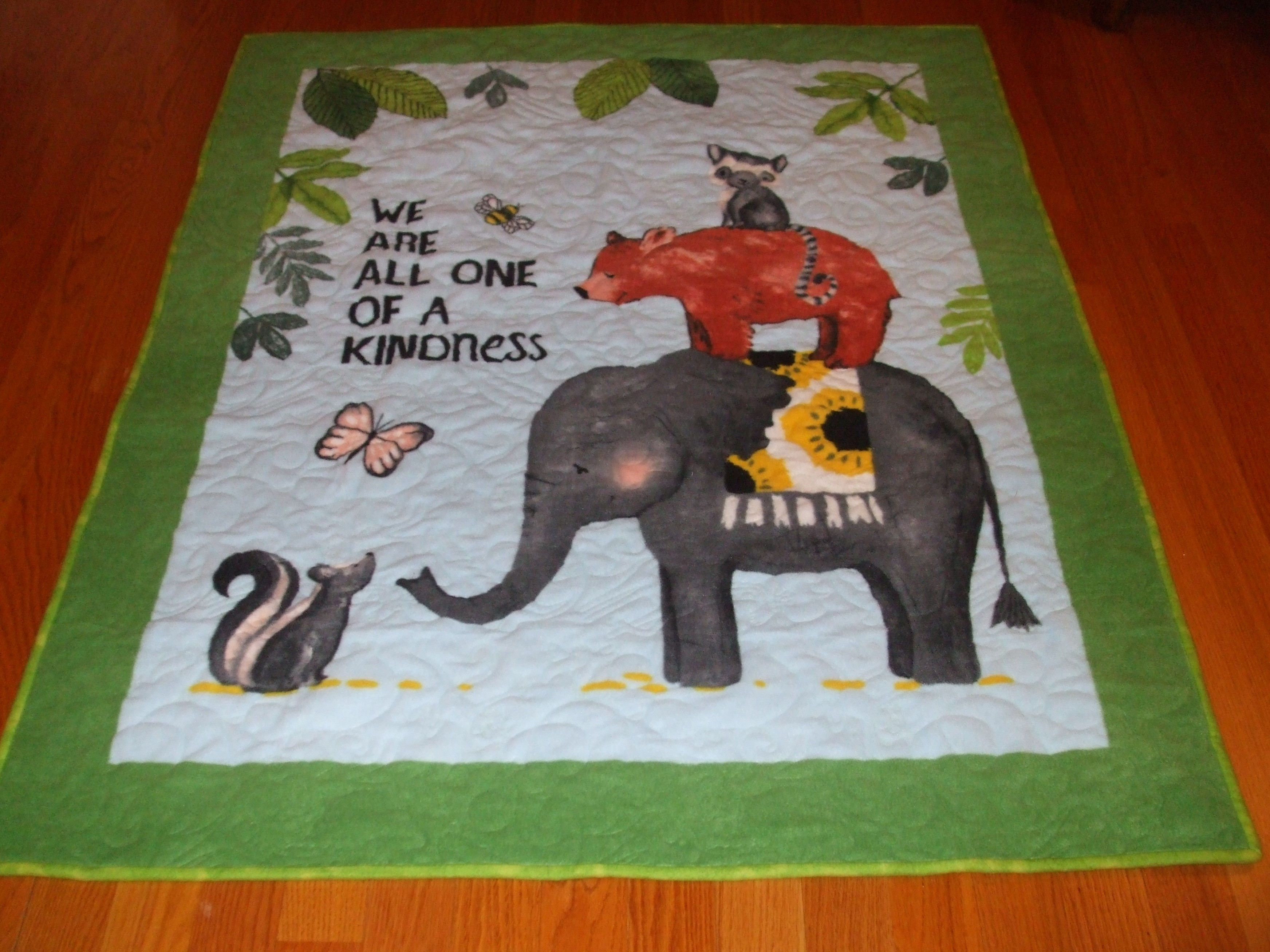 One of a Kindness hand made infant quilt