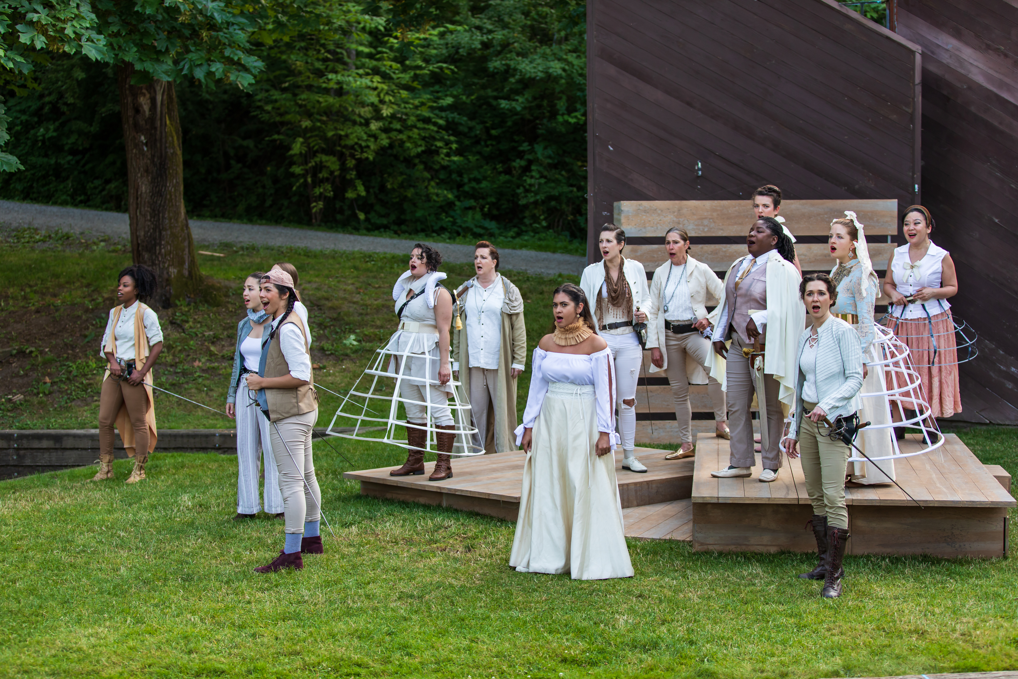 The cast of Romeo and Juliet (Wooden O), photo by HMMM Productions