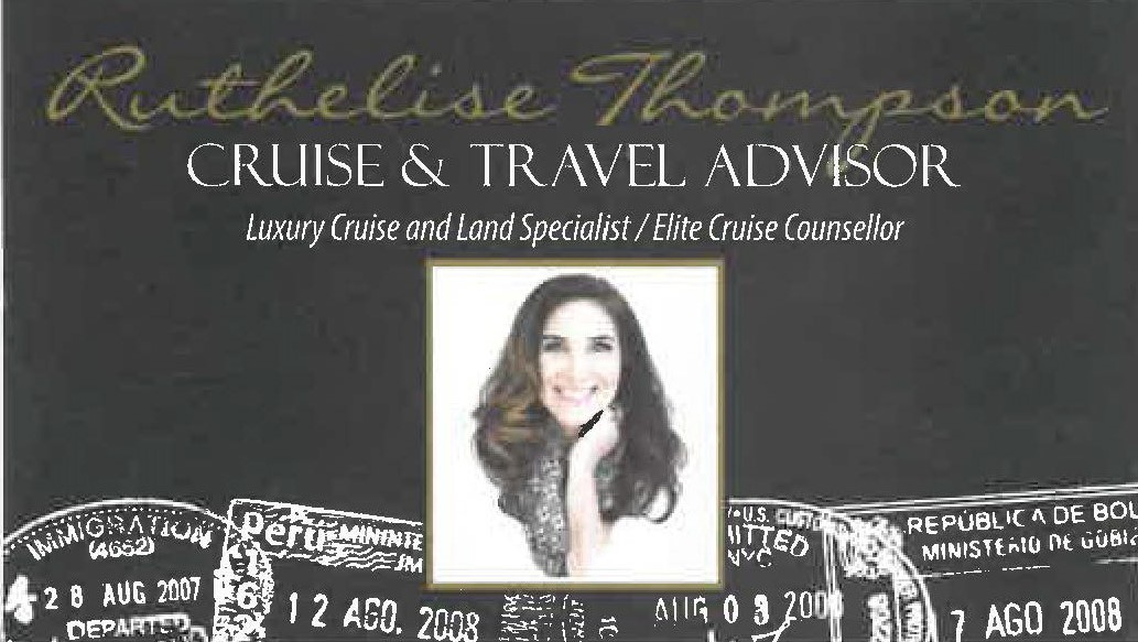 Ruthelise Thompson, ECC (from Cruise Planners)