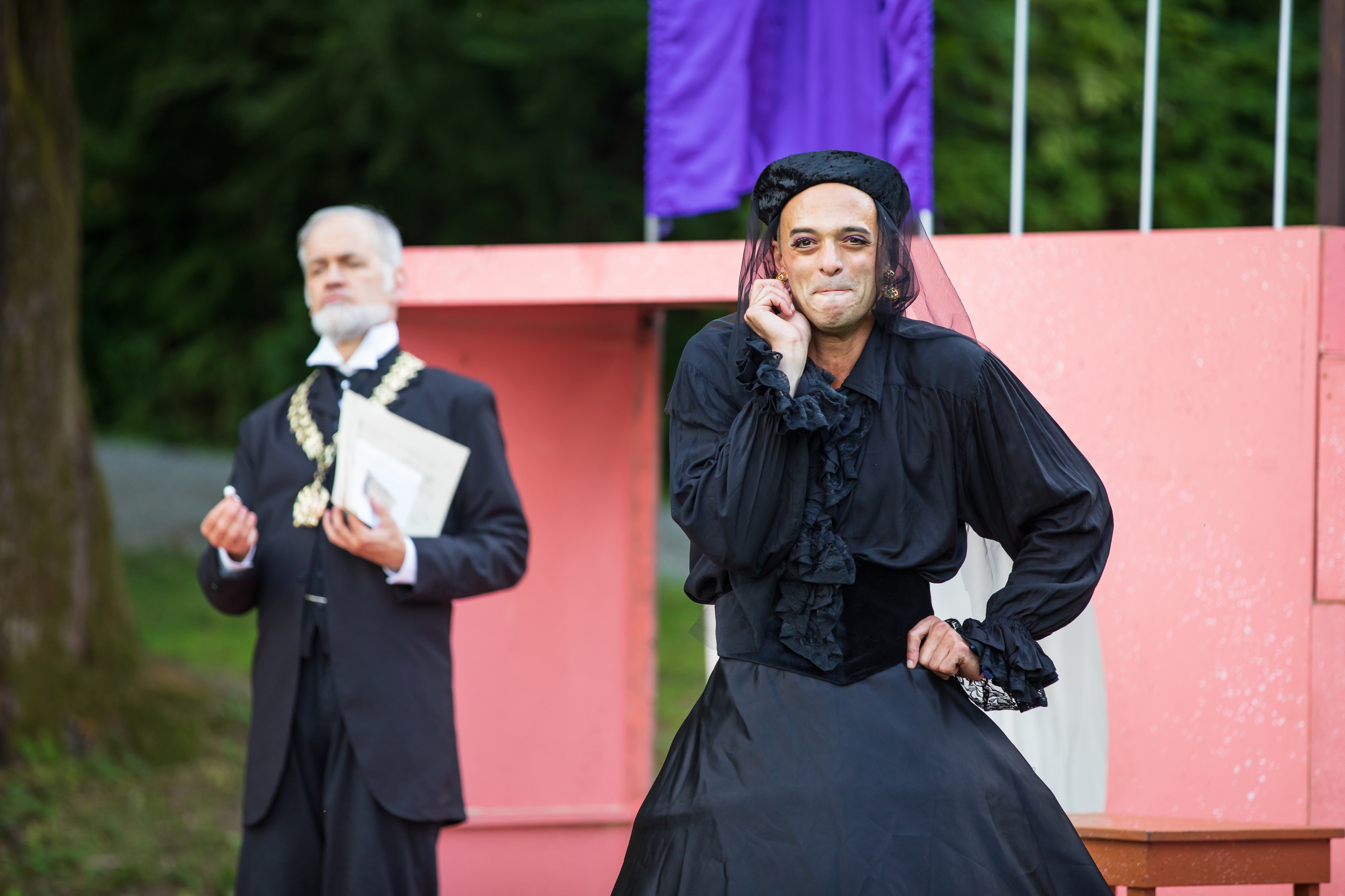 Chad Kelderman and Brandon J. Simmons in Twelfth Night (Wooden O), photo by HMMM Productions