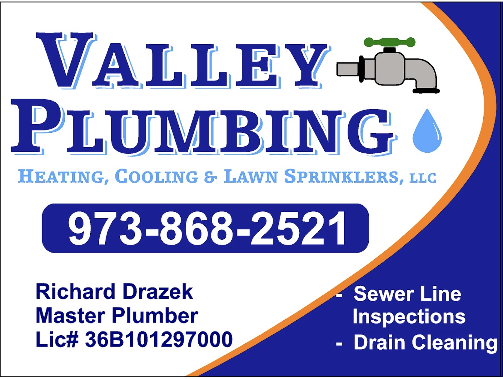Valley Plumbing, Heating, Cooling and Lawn Sprinklers, LLC.
