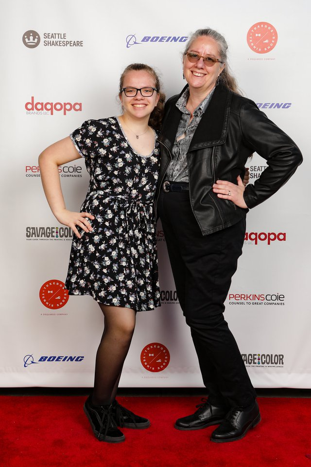 Me with Sarah at Bash 2018 - Red Carpet!