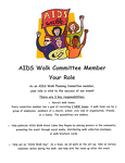 Your Role: AIDS Walk Committee Member